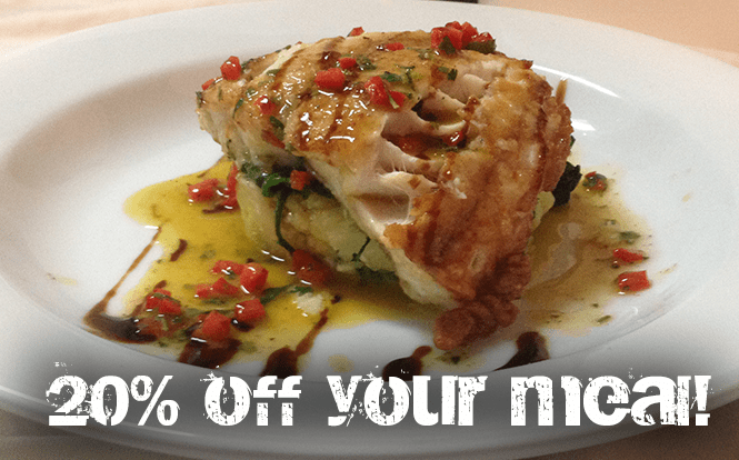 20% off on your meal